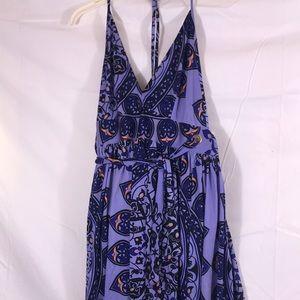 Nieves Lavi wrap halter dress, size 2